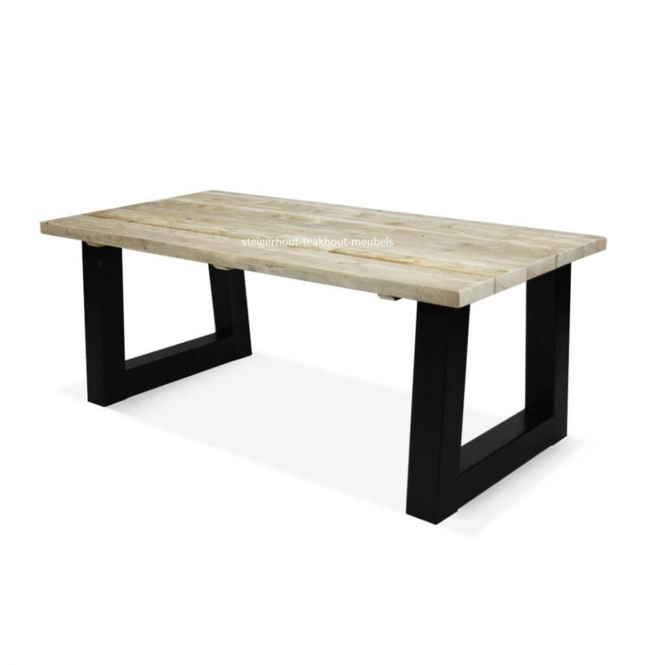 Metalen salontafel poot trapezium model 8x8