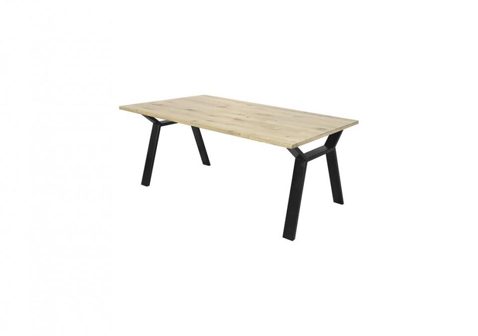 Eiken tafel Vincent - metalen onderstel
