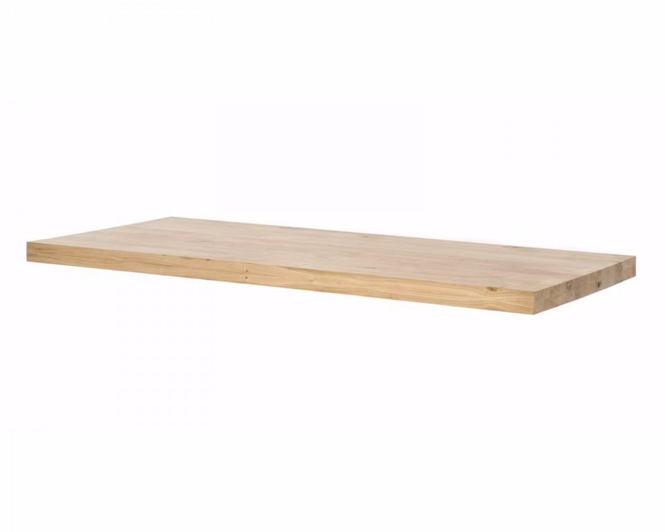 Eiken tafelblad recht 8 cm dik