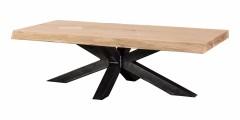 Eiken salontafel Matrixpoot 8x8 cm