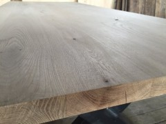 Eiken tafelblad recht 4,5 dik