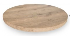 Eiken tafelblad rond Rustiek 5 cm dik