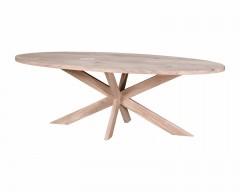 Eiken tafel Ovaal - Eiken XX onderstel